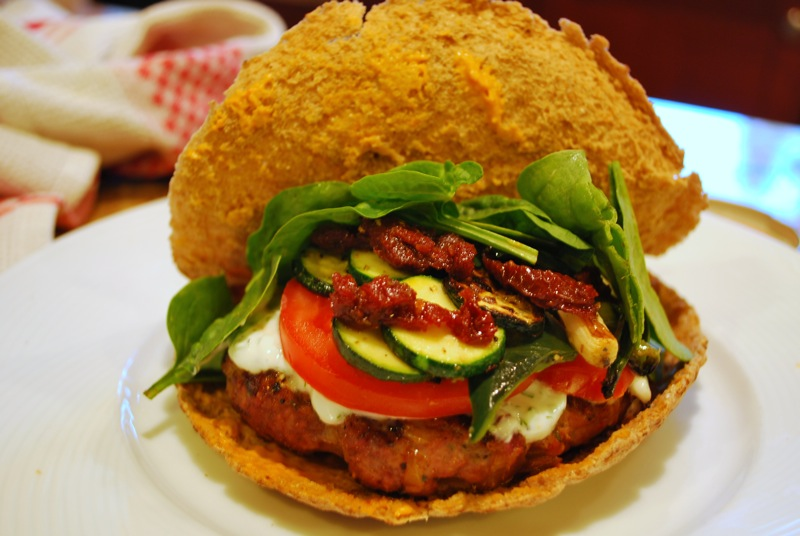 Curried Lamb Burgers With Grilled Vegetables And Mint Raita Recipes ...